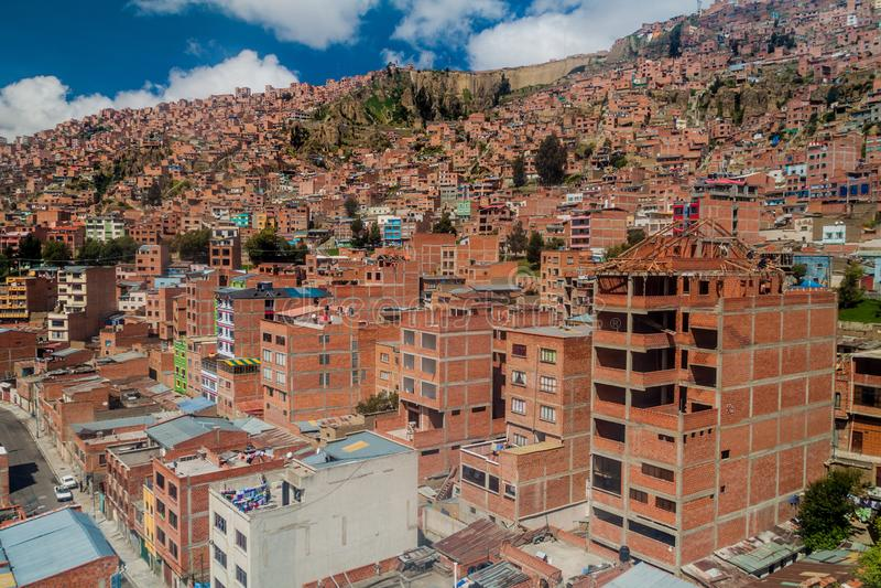 La Paz, Bolívia imagem de stock royalty free