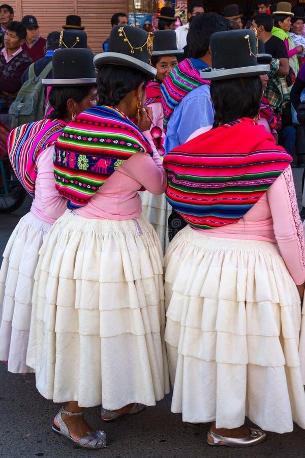 La Paz Bolivia de Mallasa - 2 février 2014 : Traditionnellement habillé image libre de droits
