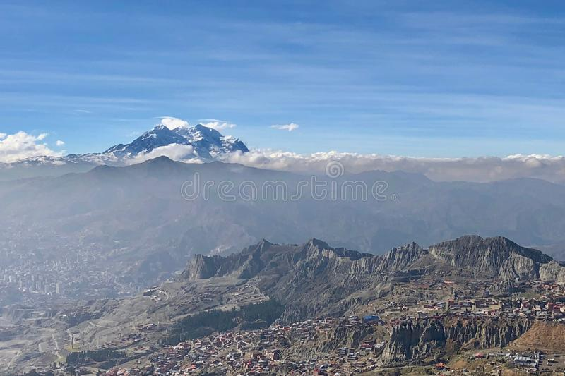 La Paz, in Bolivia, is the highest administrative capital in the world, resting on the Andes' Altiplano plateau. La Paz, in Bolivia, South America, is the stock images