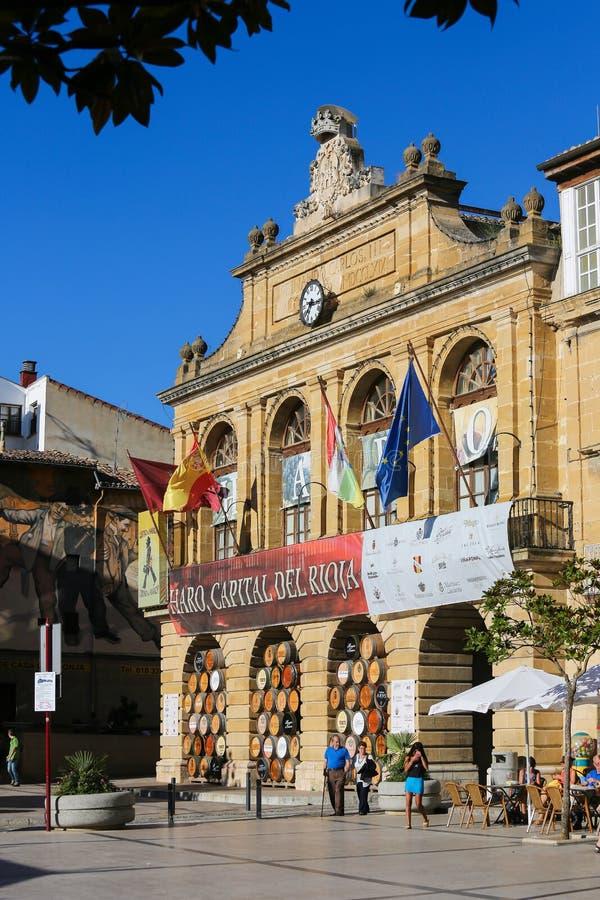 La Paz del de della plaza in strada rialzata, La Rioja, Spagna fotografia stock