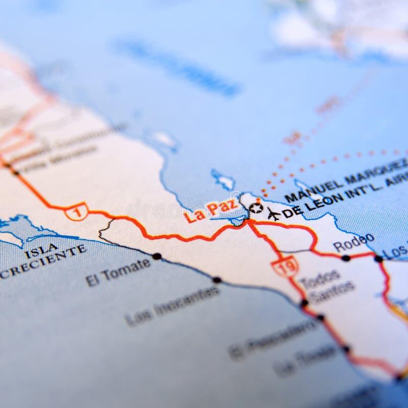 Free La Paz Map Royalty Free Stock Photos - 12589158