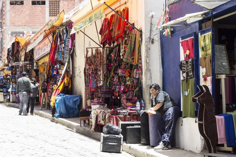 La Paz - marketalley royalty-vrije stock foto