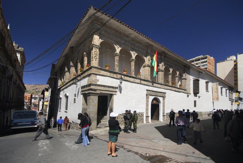 La Paz, Plaza de la Union, Bolivia, Suramérica imagenes de archivo