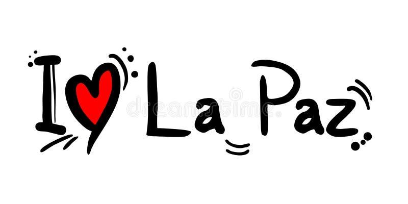 La Paz, ville de message d'amour de la Bolivie illustration de vecteur