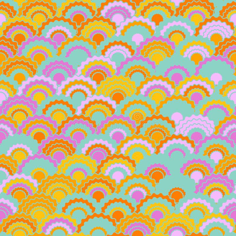 La peau de serpent vibrante mesure le fond de squama, modèle sans couture de tissu de vecteur, copie carrelée de textile illustration de vecteur
