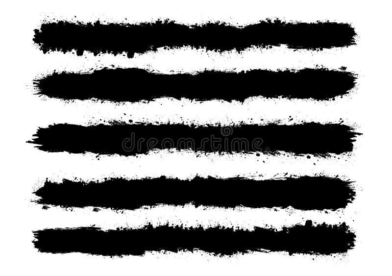 La peinture abstraite éclabousse l'ensemble pour l'usage de conception Ensemble de calibre d'éclaboussure Illustration grunge de  illustration libre de droits