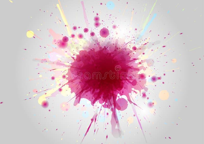 La peinture abstraite de couleur éclabousse sur le fond abstrait illustration stock