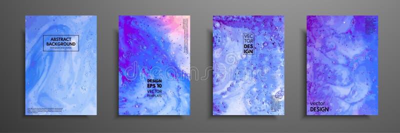 La peinture abstraite, peut être employée comme fond à la mode pour des papiers peints, affiches, cartes, invitations, sites Web  illustration stock