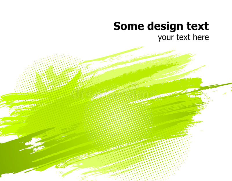 La peinture abstraite verte éclabousse le fond. Vecteur illustration libre de droits