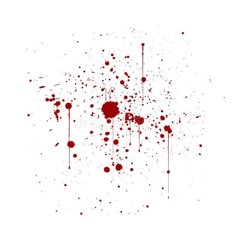 La peinture artistique abstraite éclabousse et éponge en rouge et blanc encre illustration libre de droits