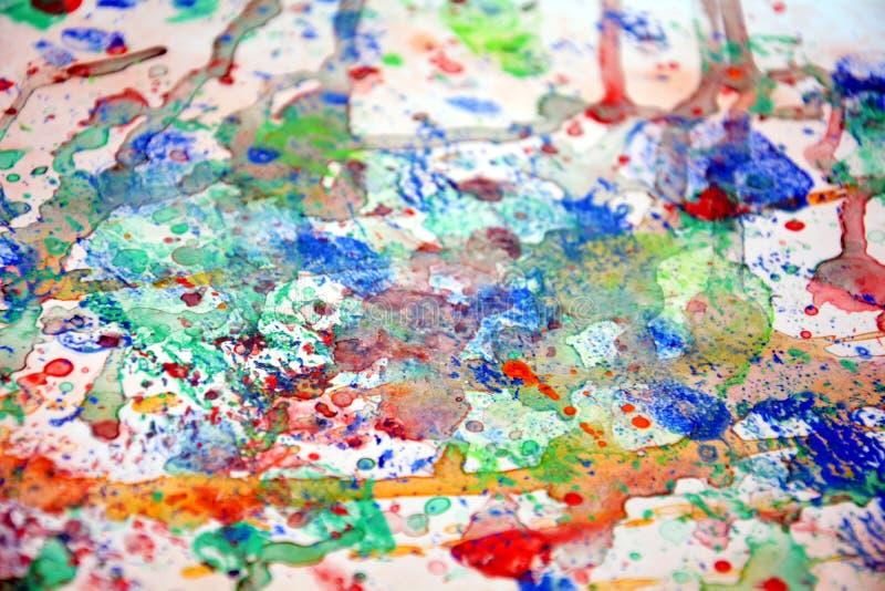 La peinture colorée éclabousse, fond en pastel vif coloré, texture colorée de résumé images stock