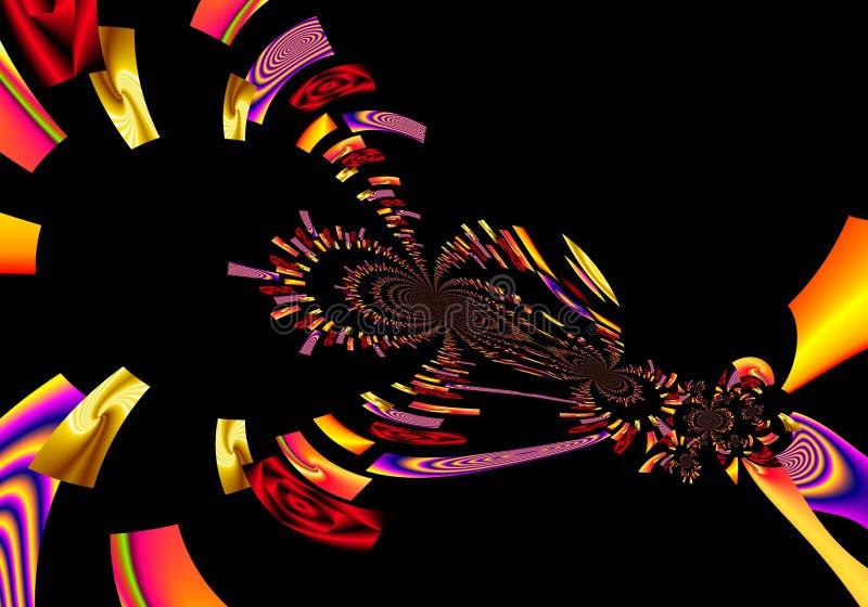 La peinture colorée d'abrégé sur art de conception de Grafik décrit le nouvel art photo libre de droits