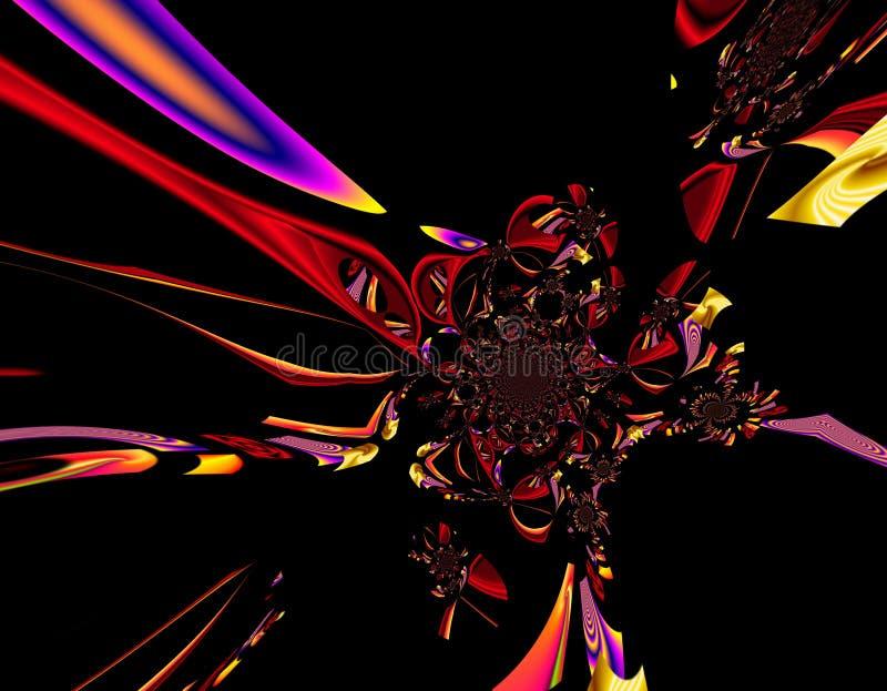 La peinture colorée d'abrégé sur art de conception de Grafik décrit le nouvel art illustration libre de droits