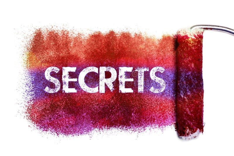 La peinture de mot de secrets illustration de vecteur