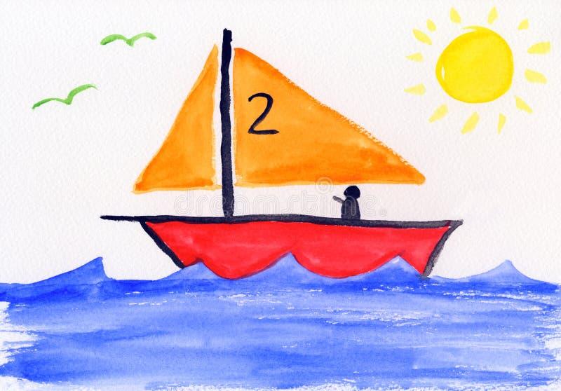La peinture des enfants - dessin-modèle - éducation illustration de vecteur