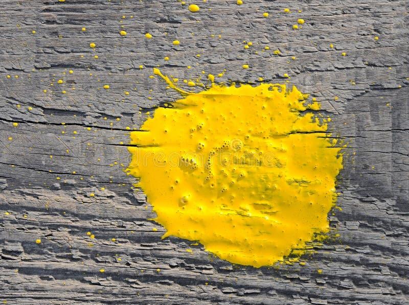 La peinture jaune a éclaboussé images libres de droits