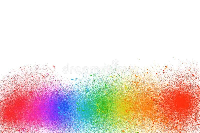 La peinture multi de couleur est un arc-en-ciel sur un fond blanc photo stock