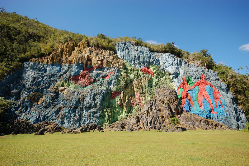 La peinture murale de la préhistoire photographie stock libre de droits