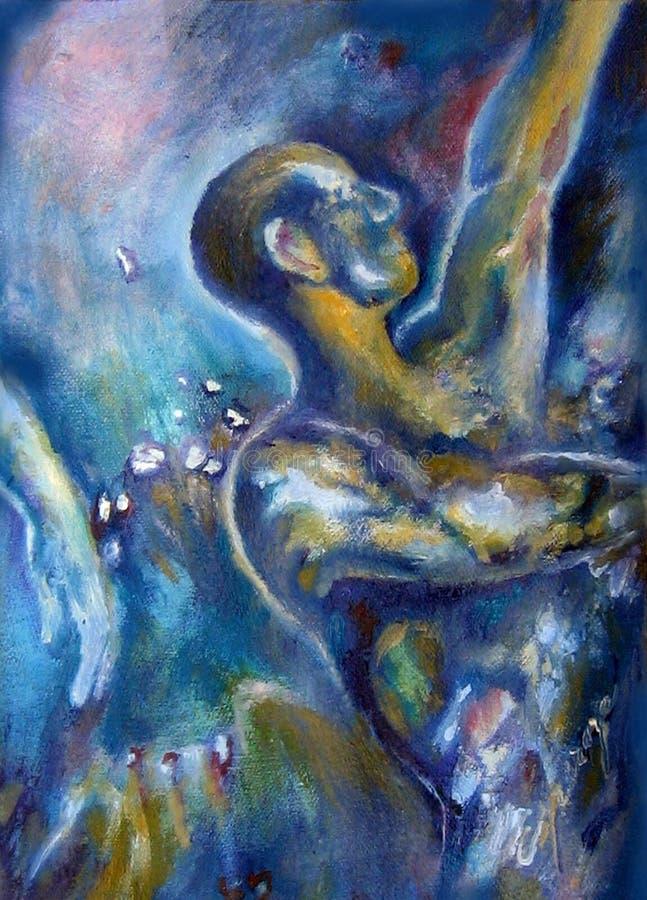 La peinture originale a inspiré par la toile acrylique Esperanza Buenos Aires Argentina d'huile de liberté photographie stock