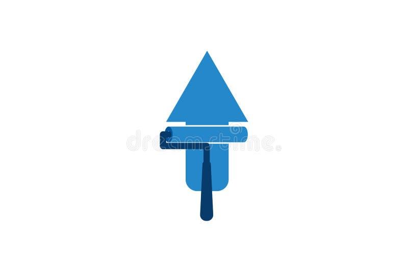 la peinture vers le haut du logo conçoit l'inspiration d'isolement sur le fond blanc illustration stock