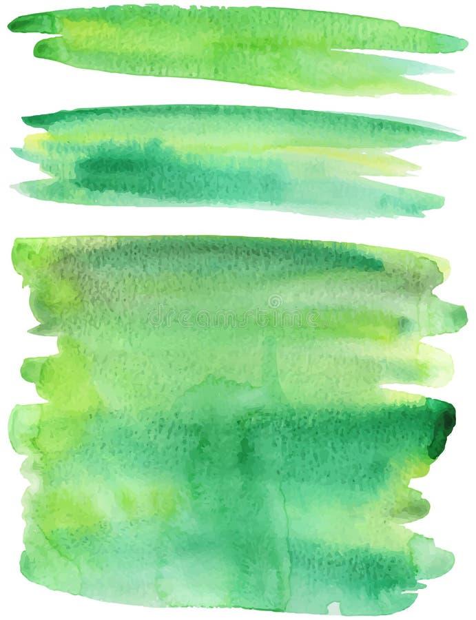 La peinture verte frotte le vecteur illustration stock