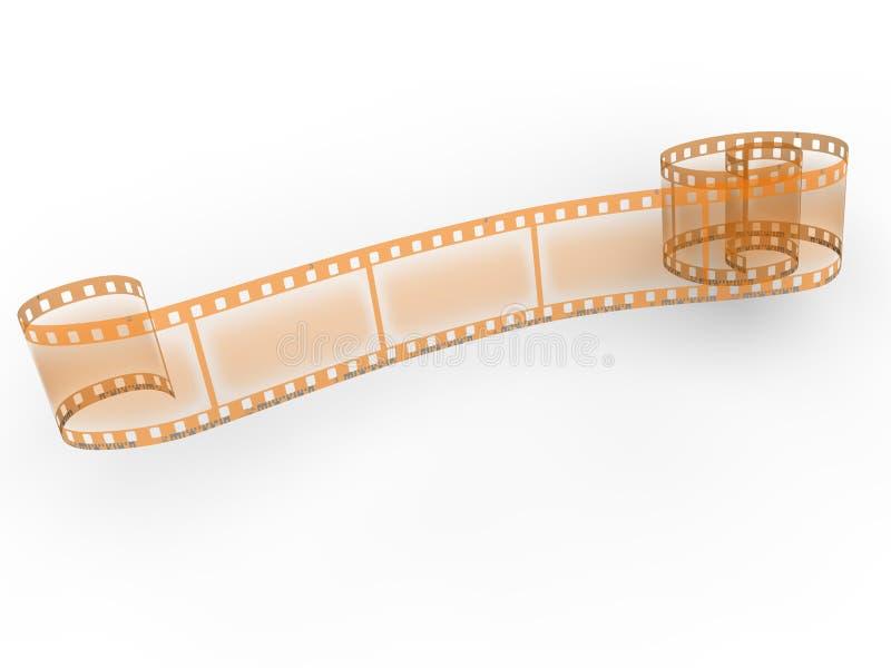 La película negativa aisló foto de archivo libre de regalías