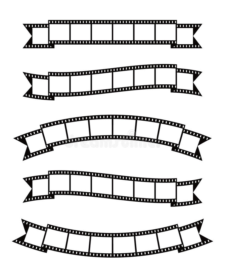 La película pela la cinta de la bandera libre illustration