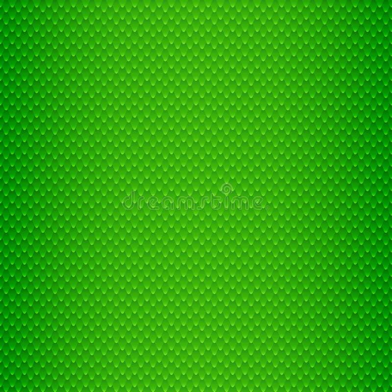 La pelle di serpente verde riporta in scala il modello senza cuciture illustrazione vettoriale