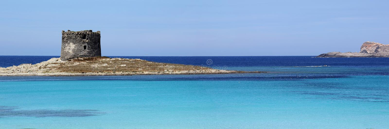 La Pelosa海滩,斯廷廷奥,撒丁岛 库存图片