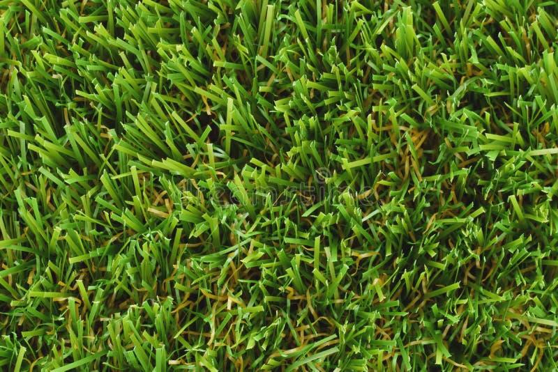 La pelouse ou le terrain de football artificielle s'est ferm?e  image libre de droits