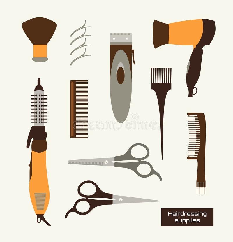 La peluquería suministra el vector Illustracion imagenes de archivo