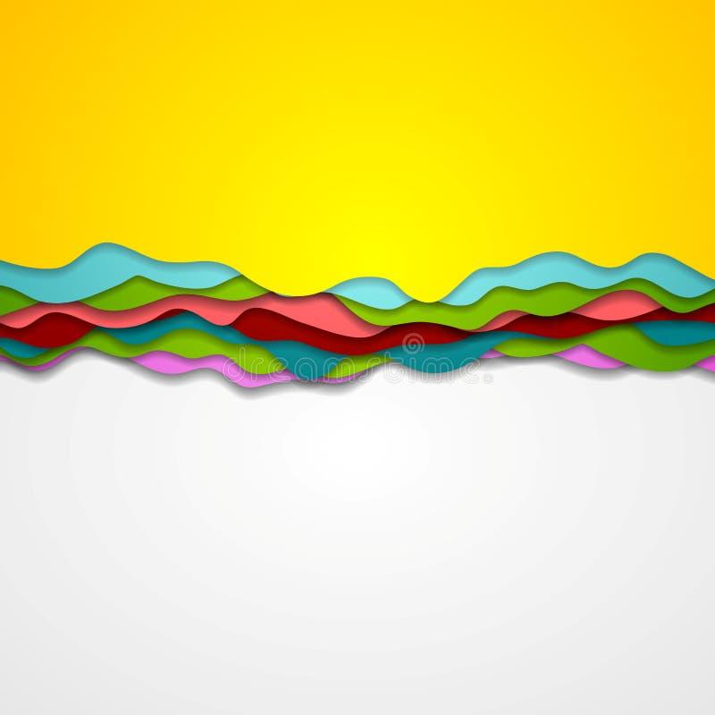 La pendenza corporativa astratta ondeggia il fondo illustrazione vettoriale