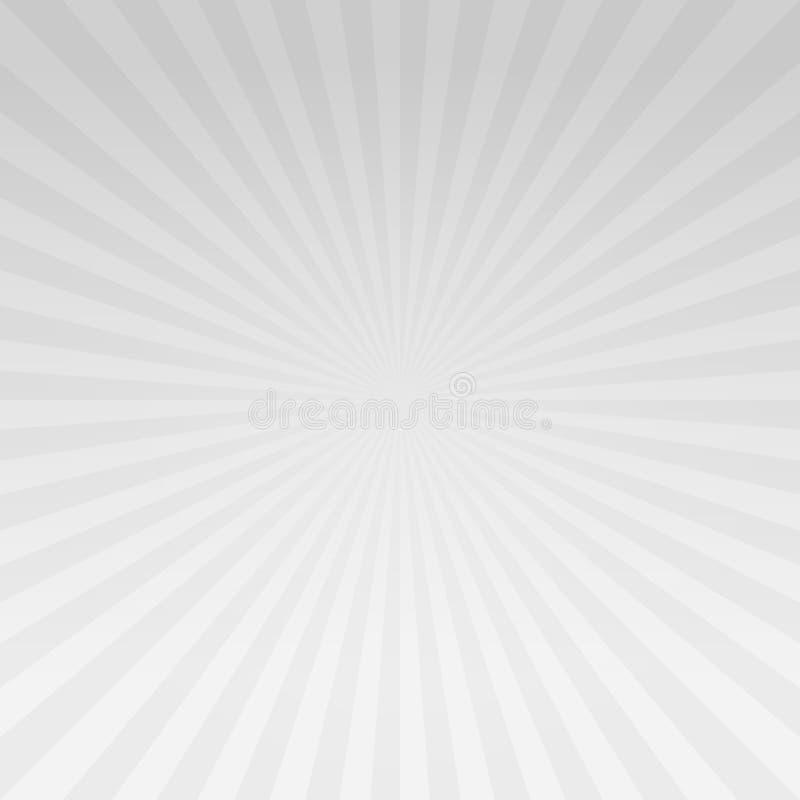 La pendenza grigio chiaro astratta rays il fondo Vettore fotografie stock libere da diritti