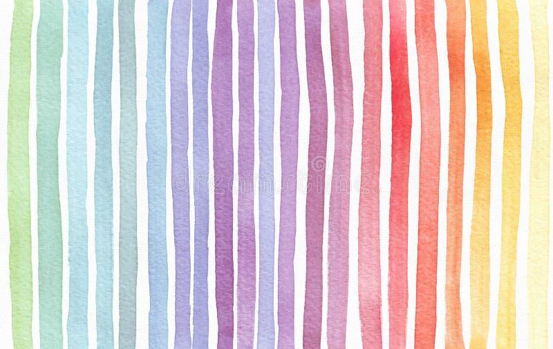 La pendenza ha schizzato il fondo dell'arcobaleno, disegnato a mano con l'inchiostro dell'acquerello Modello dipinto senza cucitu immagini stock libere da diritti