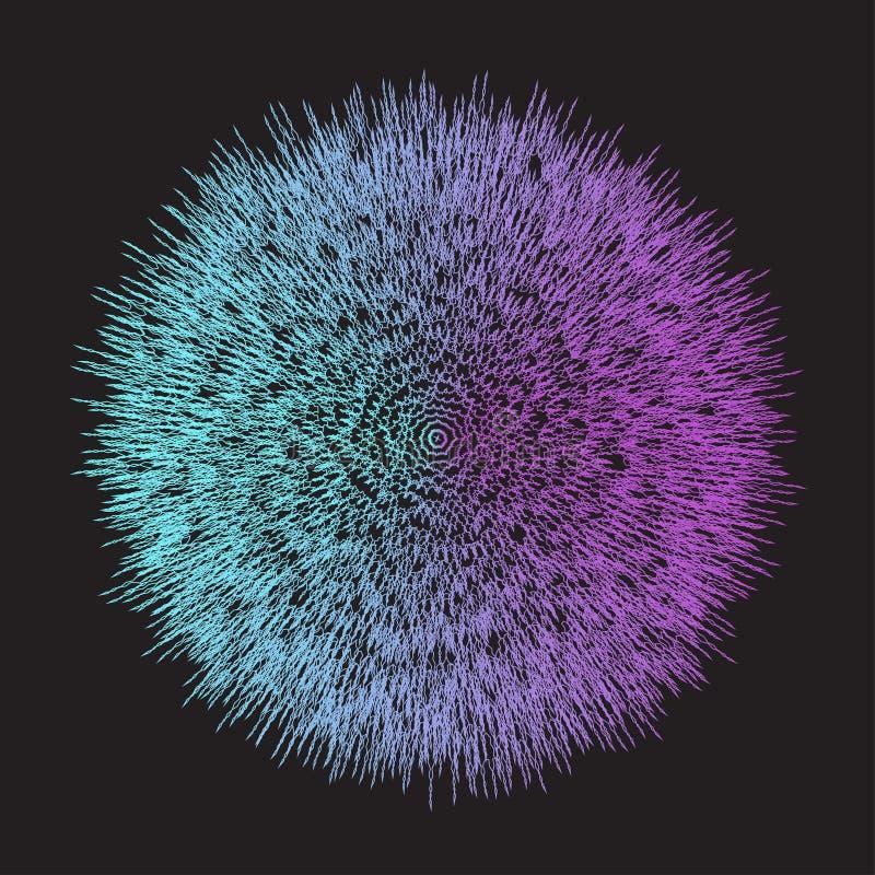 La pendenza porpora del aand blu luminoso geometrico astratto ha colorato il fondo di vettore con le linee tratteggiate illustrazione di stock