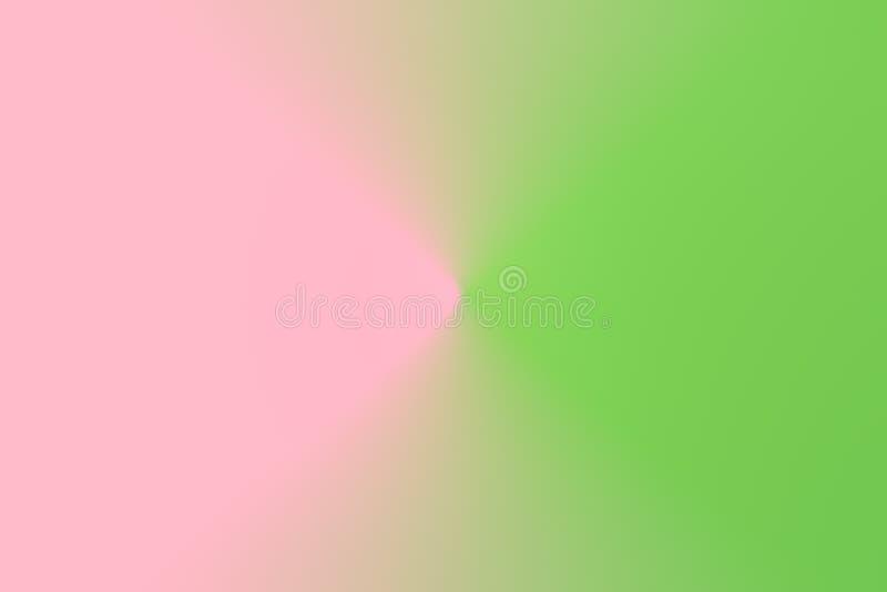 La pendiente abstracta empañó el fondo ligero del rosa del verde de la lechuga del duotone Modelo concéntrico radial Árbol congel imagen de archivo libre de regalías