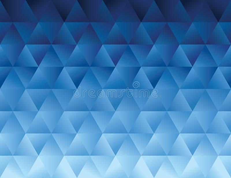 La pendiente azul del polígono con degrada efecto stock de ilustración