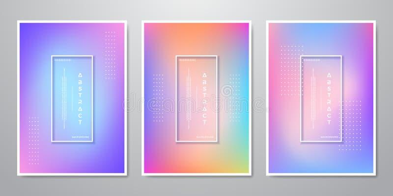 La pendiente de moda abstracta forma los fondos olográficos para la pantalla móvil, publicidad, contexto, folleto, cubierta, avia stock de ilustración