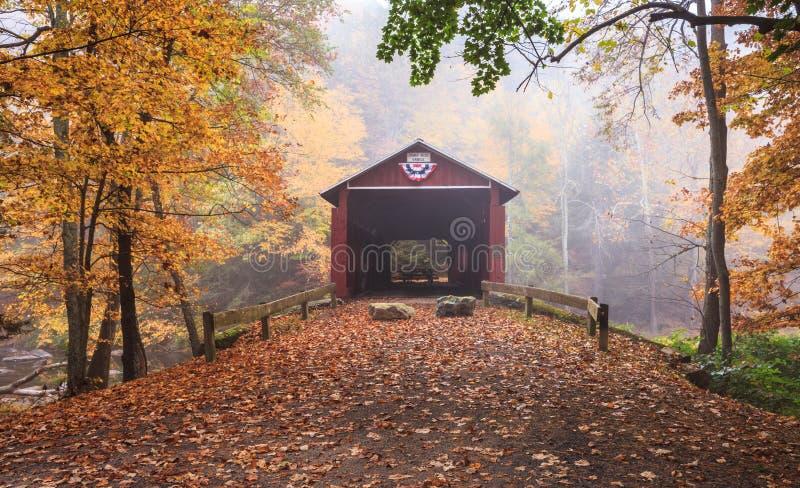 La Pennsylvanie Josiah Hess Covered Bridge photo stock