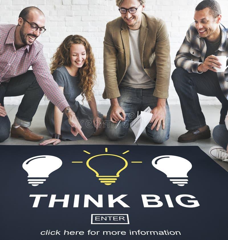 La pensée créative d'idées imaginent le concept d'inspiration images libres de droits
