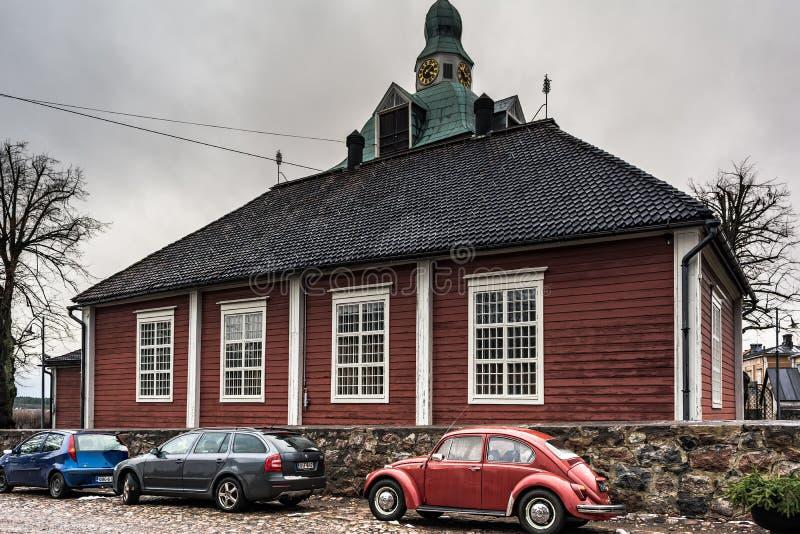 La pequeña iglesia en Porvoo, Finlandia fotografía de archivo
