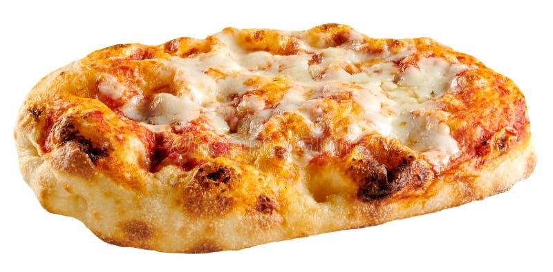 La pequeña panadería hizo la pizza clásica de Margherita fotografía de archivo libre de regalías