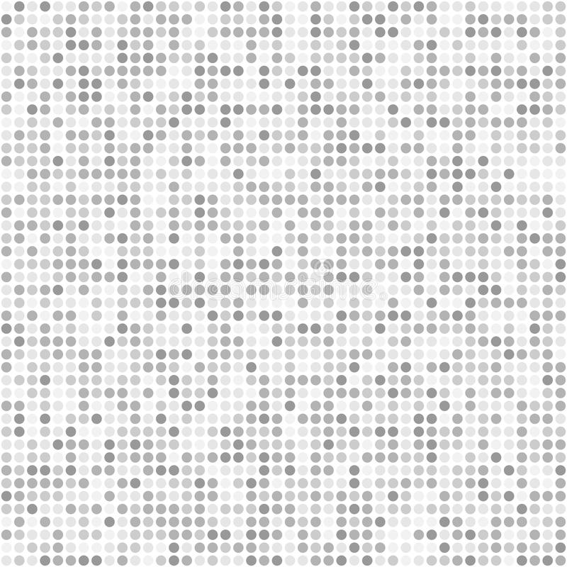 La pequeña ronda del brillo chispea modelo inconsútil gris libre illustration