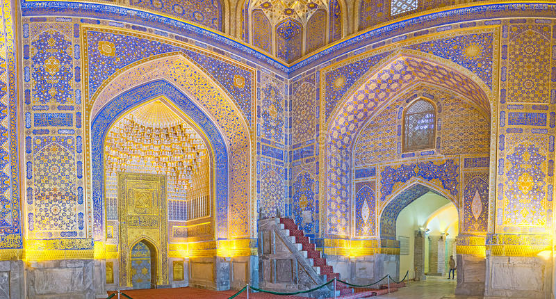 La perla del arte del Uzbek fotos de archivo
