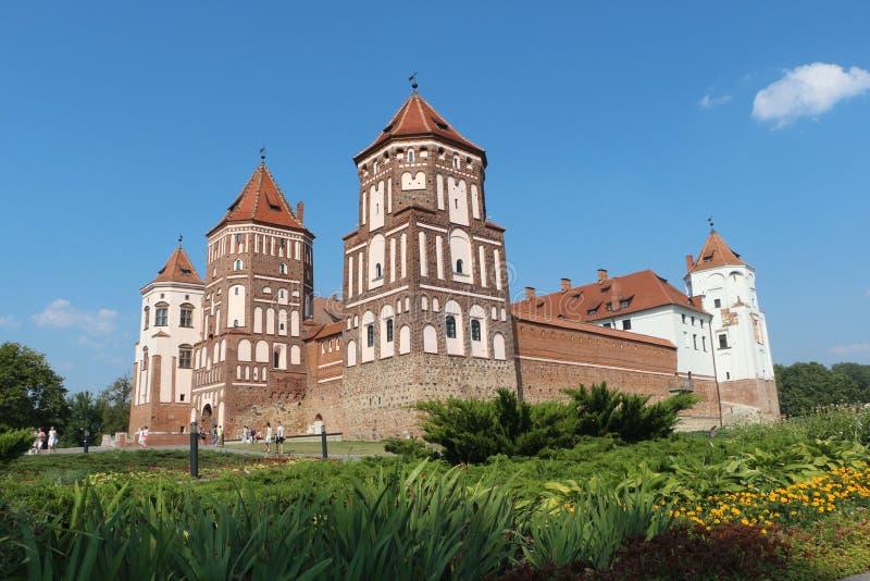 La perla della Bielorussia - castello del MIR antico fotografia stock libera da diritti