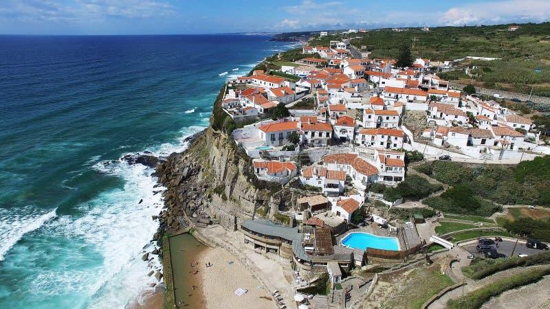 La perle de Sintra-Azenhas troublent images stock