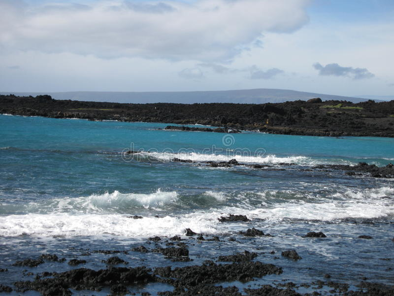 La Perouse Bay. In Maui (Hawaii royalty free stock images