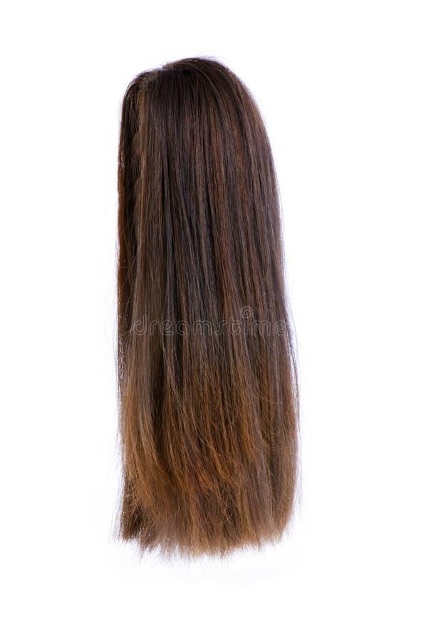 La perruque de cheveu a isolé images libres de droits