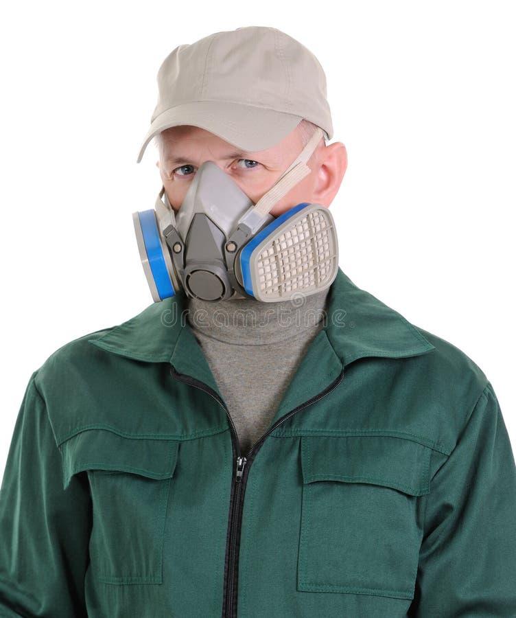 La persona con el respirador fotos de archivo libres de regalías