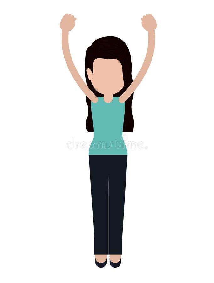 La persona con gestos de la protesta aisló diseño del icono ilustración del vector